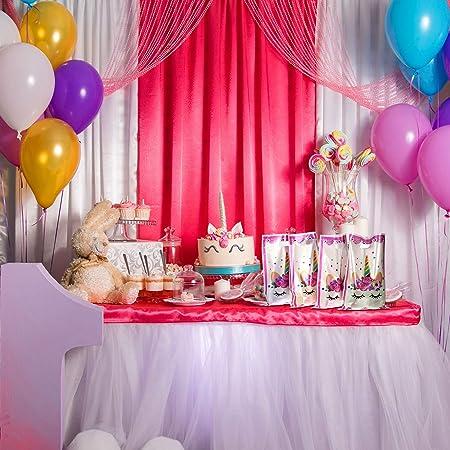 Chinco 60 Piezas de Bolsa de Fiesta de Plástico de Patrón de Unicornio Bolsa de Regalo Bolsa de Dulces para Favores de Boda Cumpleaños Fiesta