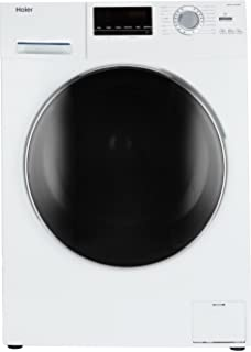 Haier 6 kg Fully Automatic Front Loading Washing Machine  HW60 10636NZP, White  Washing Machines   Dryers