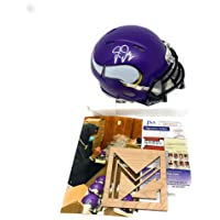 Justin Jefferson Minnesota Vikings Signed Autograph Speed Mini Helmet JSA Certified photo