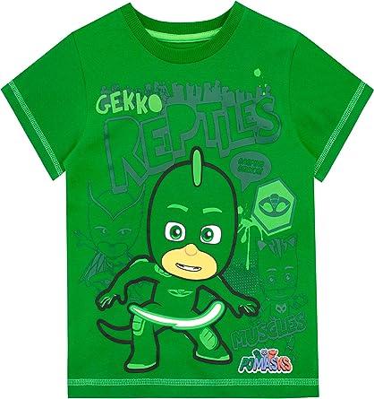 PJ Masks Camiseta de Manga Corta para niños Gekko
