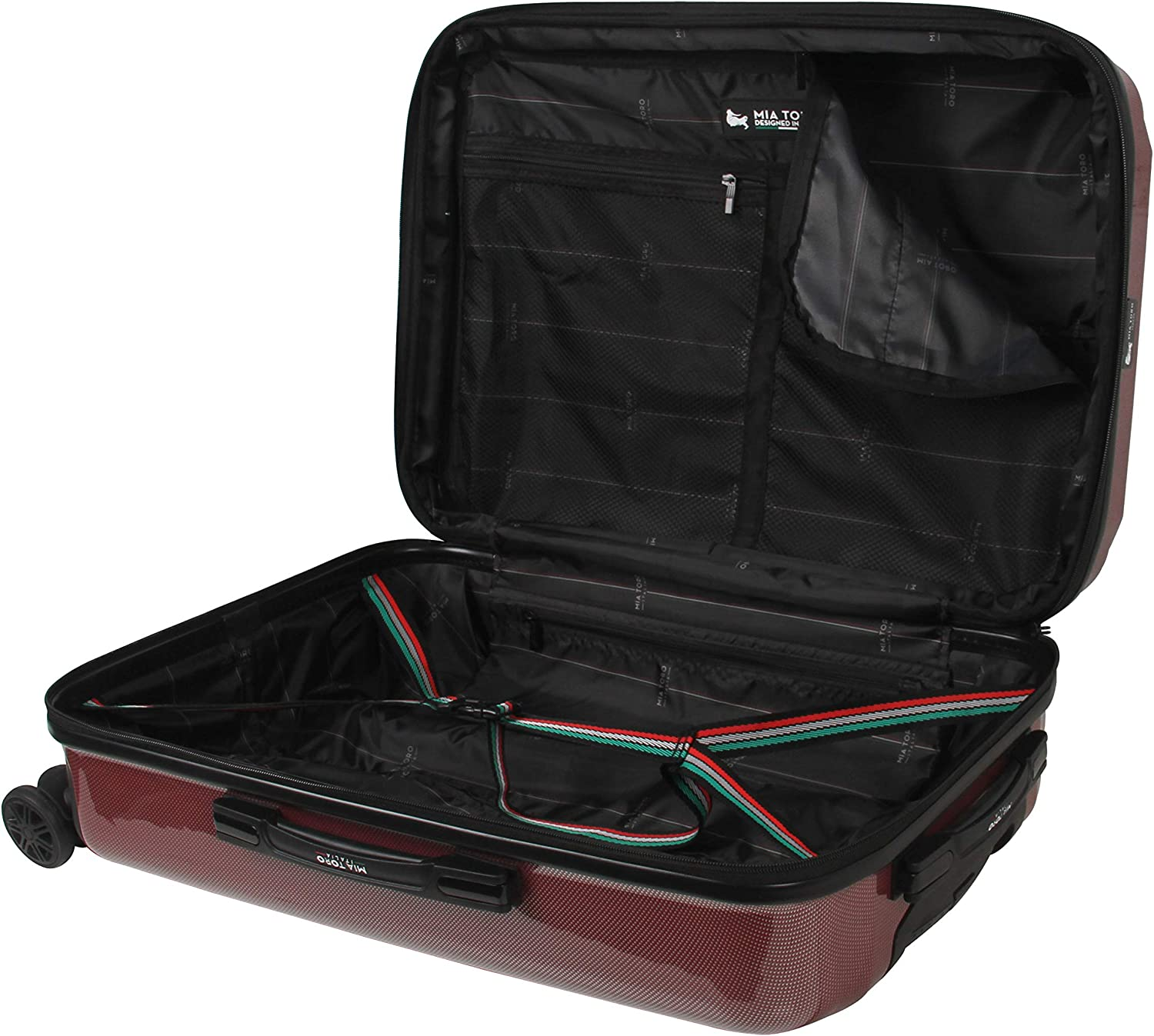 Mia Toro Mia Tor Italy Fonte Hardside Spinner Carry-on Red