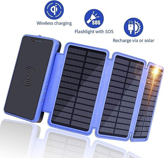 Amazon.com: Soluser Cargador solar, Azul
