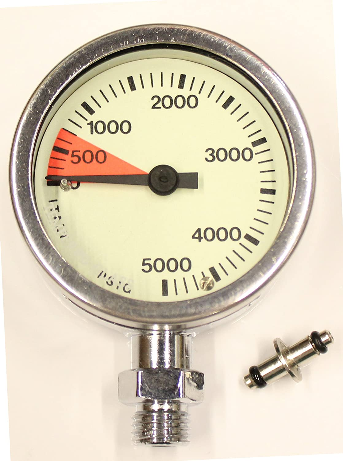 SOPRAS SUB PLATED TEK BRASS SPG IMPERIAL PRESSURE GAUGE PSI 2 INCH Chrome plated