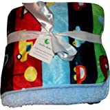 Genio Baby Sherpa Fleece Baby Blanket Unisex 30 x 40 Soft- Perfect For Swaddling and Strolling- Fluffy For Boys and Girls