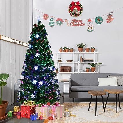 amazon com goplus 5ft pre lit fiber optic artificial christmas tree