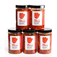 5 X 330g GET 1 Free Jar Freshly UK- made Kimchi based on Authentic Korean Recipe (Natural Fermentation, Natural Probiotics, No Artificial Additives)