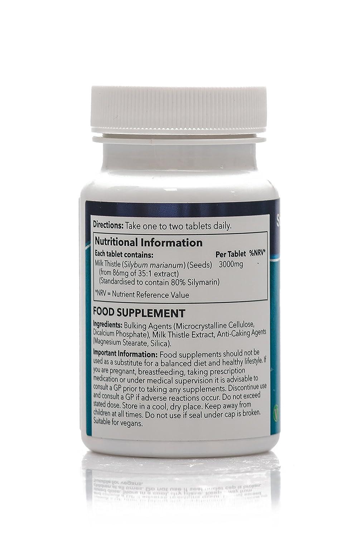Cardo Mariano 3000mg - 120 comprimidos -Hasta 4 meses de suministro - Para la salud del hígado y de la vesícula biliar - SimplySupplements: Amazon.es: Salud ...