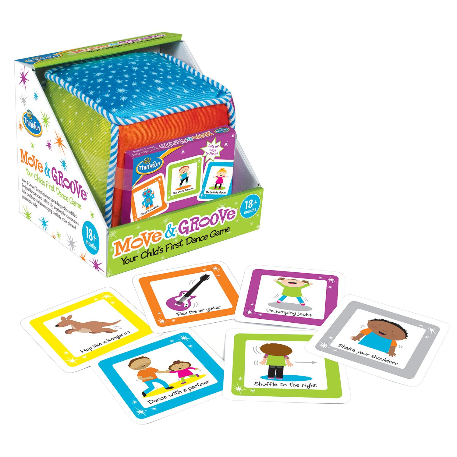 Amazon.com: Think Fun Move and Groove Dance Game for Toddlers ...