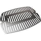 Grillrost. com - Rejilla de reja de acero inoxidable para rejas de repuesto/rejilla de repuesto adecuada para todas las parrillas de las series Weber Q100 y Q1000 (de una sola pieza)