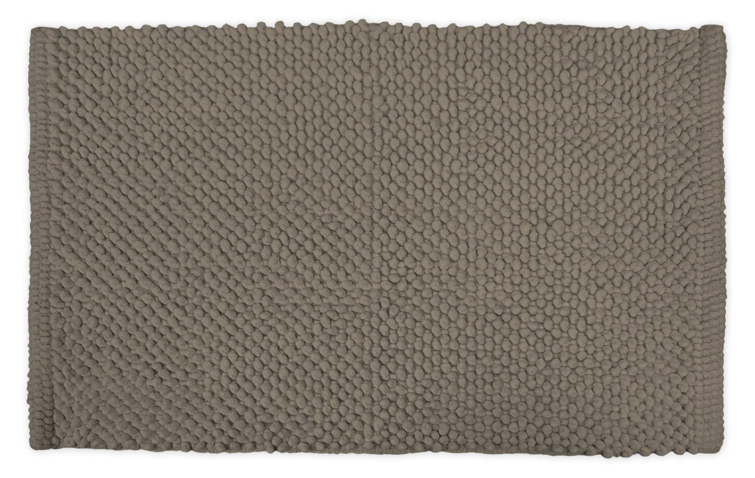 DII Ultra Soft Plush Spa Cotton Pebble Absorbent Chenille Bath Mat Place in Front of Shower, Vanity, Bath Tub, Sink, and Toilet, 21 x 34'' - Cool Brown