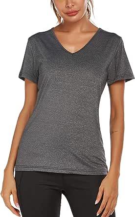 COOrun Women's Gym Shirt Short Sleeve Yoga Tops Moisture Wicking Athletic T-Shirts S-XL