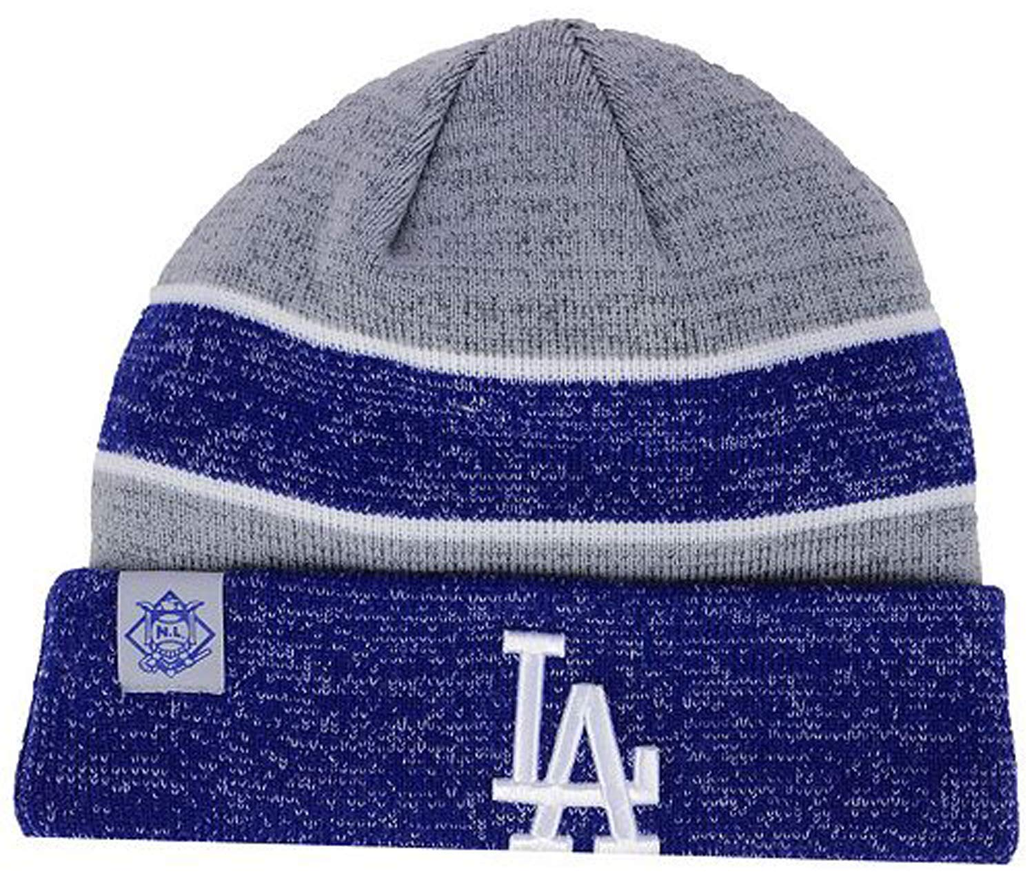 1a088cfb7aa Amazon.com   New Era Authentic Los Angeles Dodgers On Field Clubhouse Sport  Knit Hat Sport Knit MLB Beanie Blue Gray