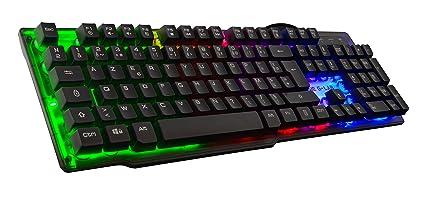 The G Lab Keyz Neon/SP Teclado Gaming Retroiluminado (Led Rainbow, 19 Teclas