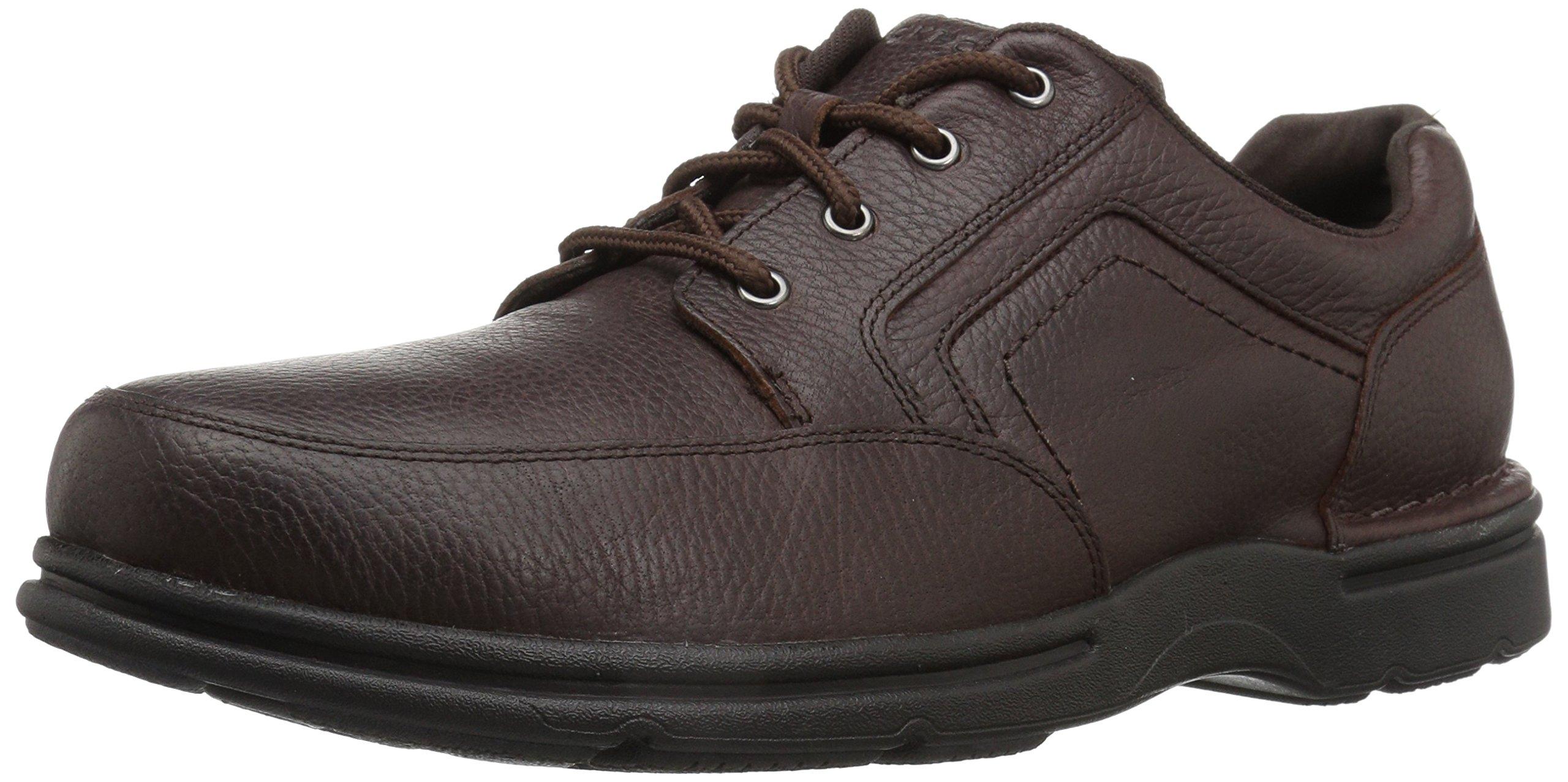 Rockport Men's Eureka Plus Mudguard Oxford, Dark Brown, 13 W US