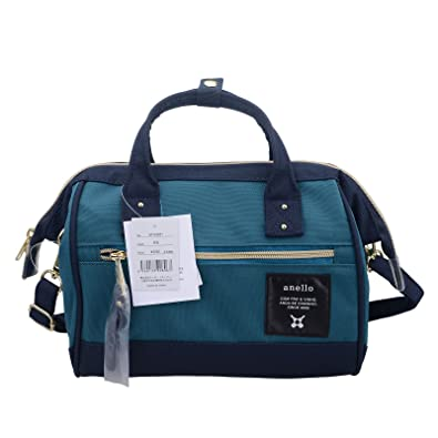 Amazon.com  Anello Official Neon Blue   Green Japan Fashion Shoulder  Top-Handle Satchels Cross-Body Bag AT-H0851-BN  Shoes 60dd329716