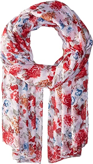Bindya Women's Striped and Floral Scarf Multi Scarf