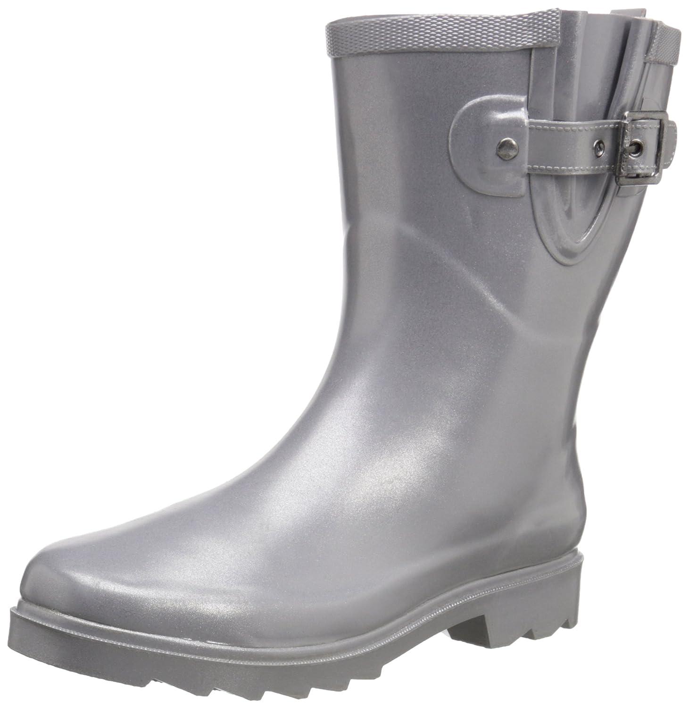 Chooka Women's Mid-Height Rain Boot B013PHIMW2 8 B(M) US|Silver