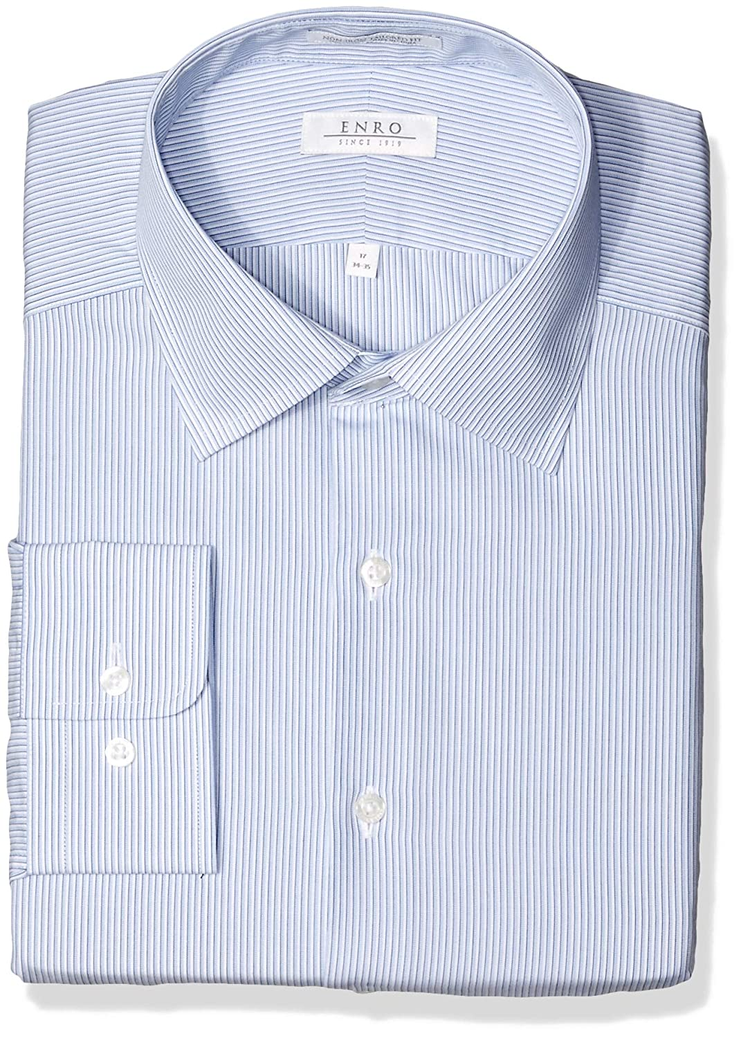 Enro Mens Federal Stripe Non Iron Tailored Fit Dress Shirt At