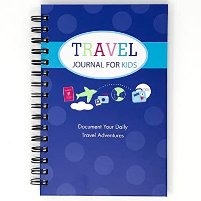 Travel Journal for Kids- Fun and Easy Way to Document Several Childhood Vacations in One Journal (Royal Blue): Office Products