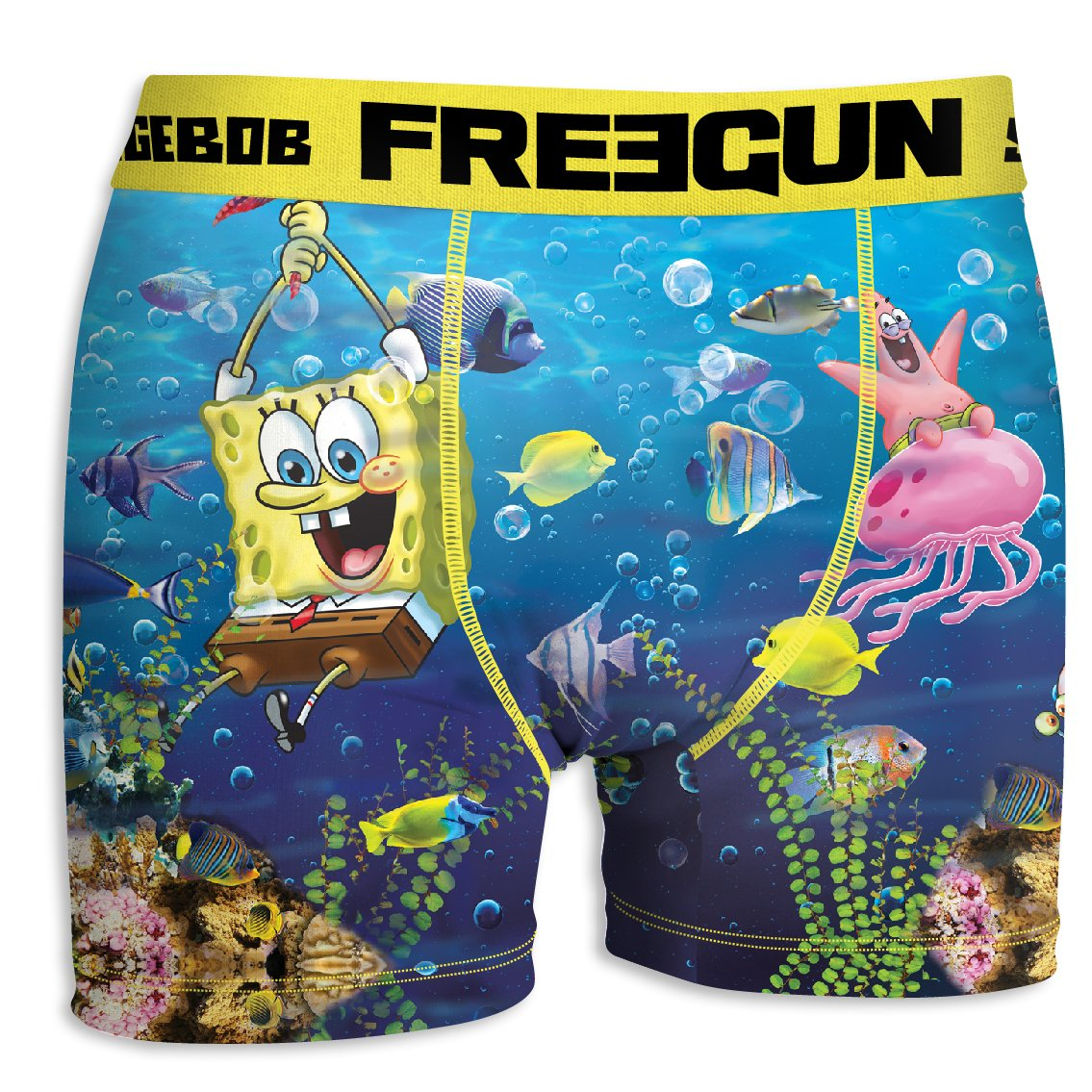 FREEGUN Boxer Boys Spongebob Squarepants Sea (10/12 Years, Sea)