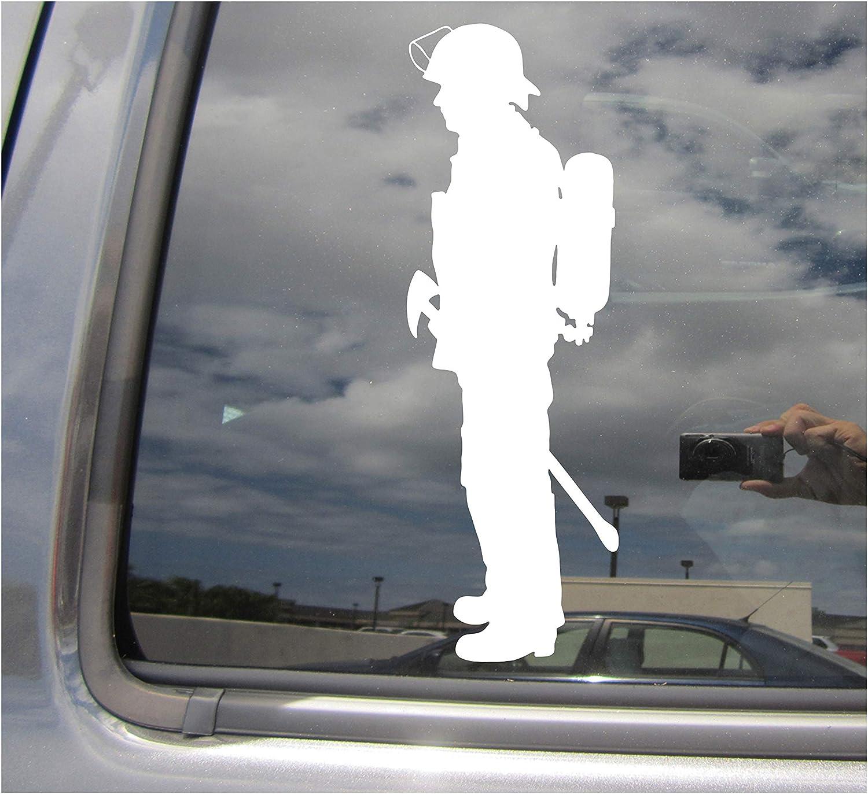 Firefighter Sticker Decal Vinyl fire fighter fireman first responder