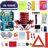 Roadside Assistance Emergency Kit - Multipurpose Emergency Pack Car Premium Road Kit Essentials Jumper Cables Set (8 Foot) Au