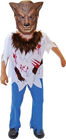 Amscan - Disfraz de hombre lobo para niño, talla 9-10 años (996238 ...