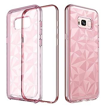 BENTOBEN Funda Samsung Galaxy S8 Plus, Funda S8 Plus, Ultra Delgada Carcasa Case Cover TPU y Anti-rasguños Transparente 3D Geométrico de Diamante ...