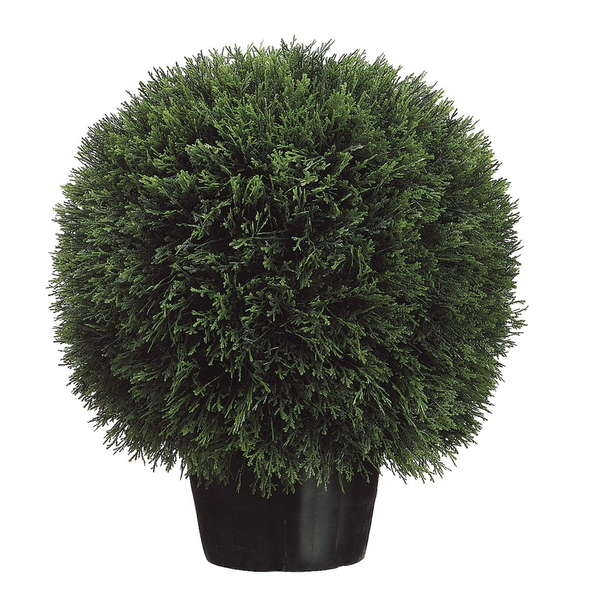 Silk Décor Cedar Ball Topiary in Pot, 20-Inch, Green by Silk Dcor