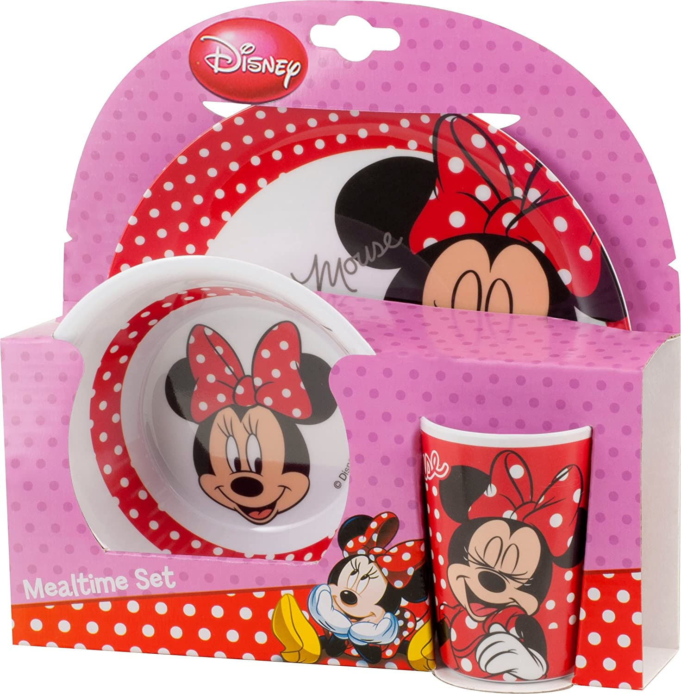 Disney Minnie Mouse ensemble de vaisselle pour enfants 3-tlg Geschirrset Melamin BBS 123183A