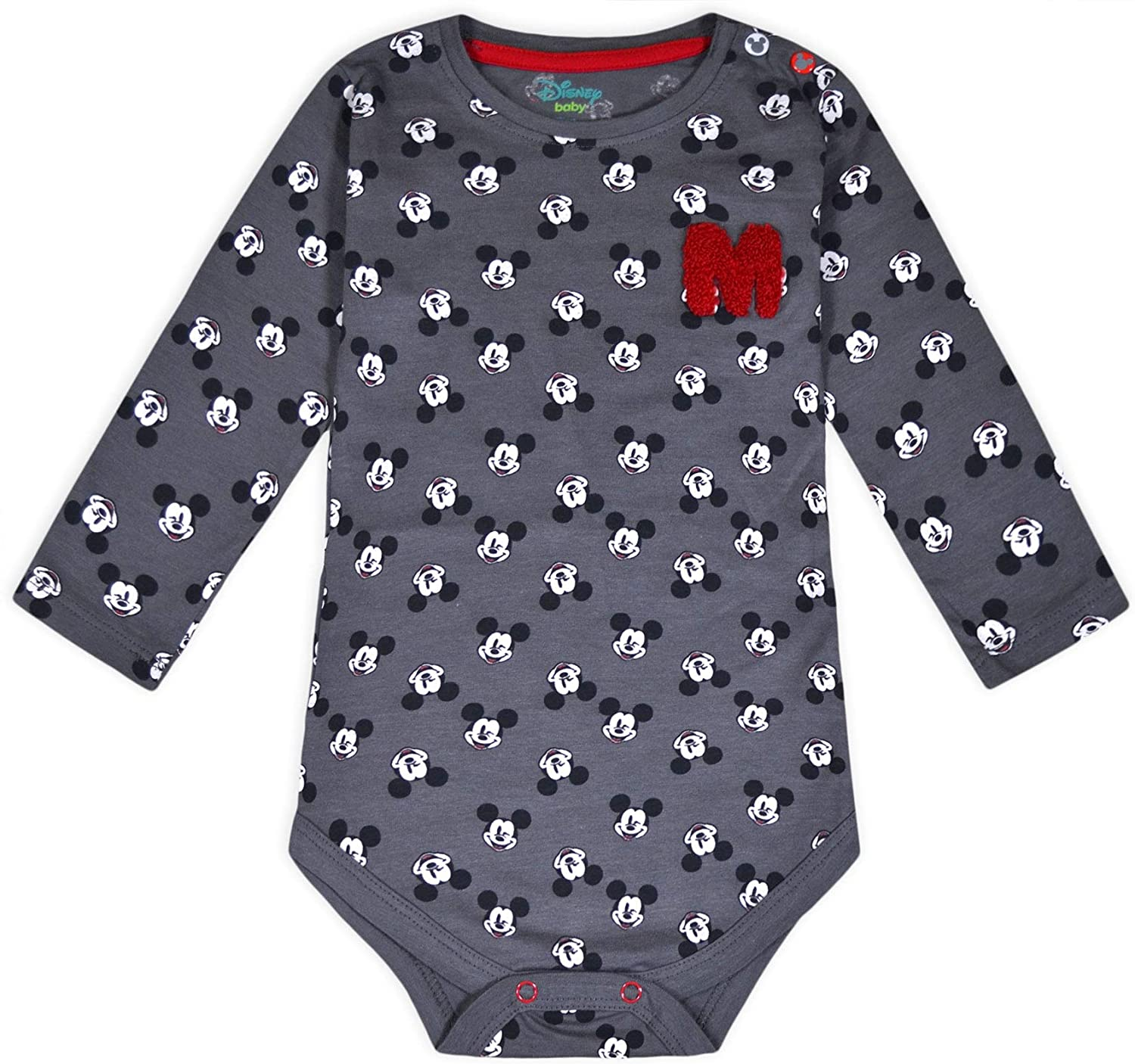 JollyRascals Baby Grow Boys Disney Micky Mouse Sleepsuit Cotton Bodysuit Kids New 0-36 Months
