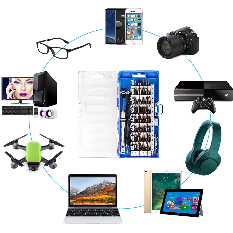 68 en 1 Set Mini Tournevis Outils de R/éparation pour iPhone 7 Smartphones Macbook Smraza Kit Tournevis de Pr/écision Magn/étique Montres Lunettes et Autres Appareils /Électronique iPad
