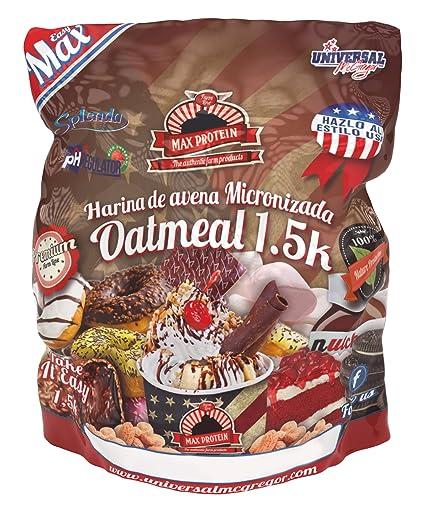 Max Protein Harina de Avena 1,5 kg Mantequilla de Cacahuete