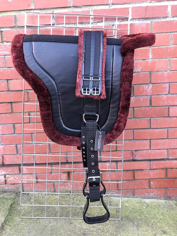 Equipride Bareback - Silla de Montar para Caballo, Color marrón