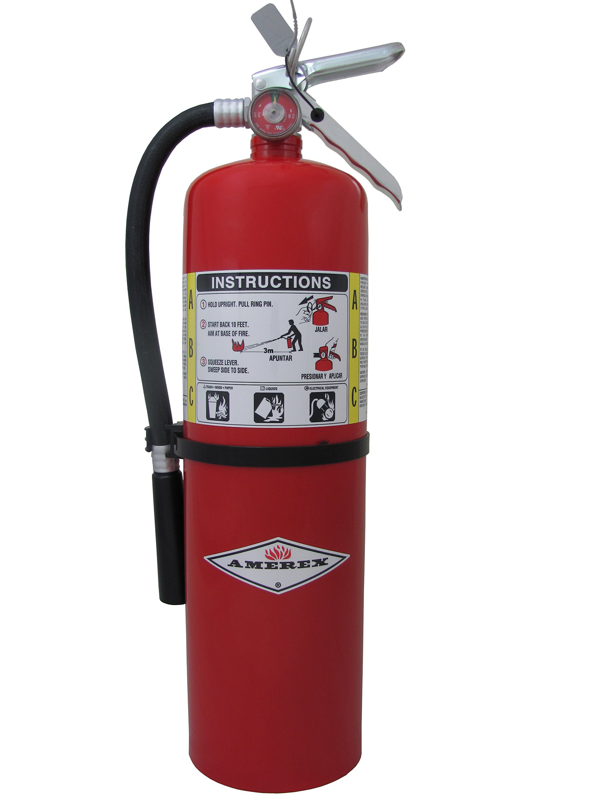 10lb ABC Dry Chemical Class A:B:C Fire Extinguisher by Amerex