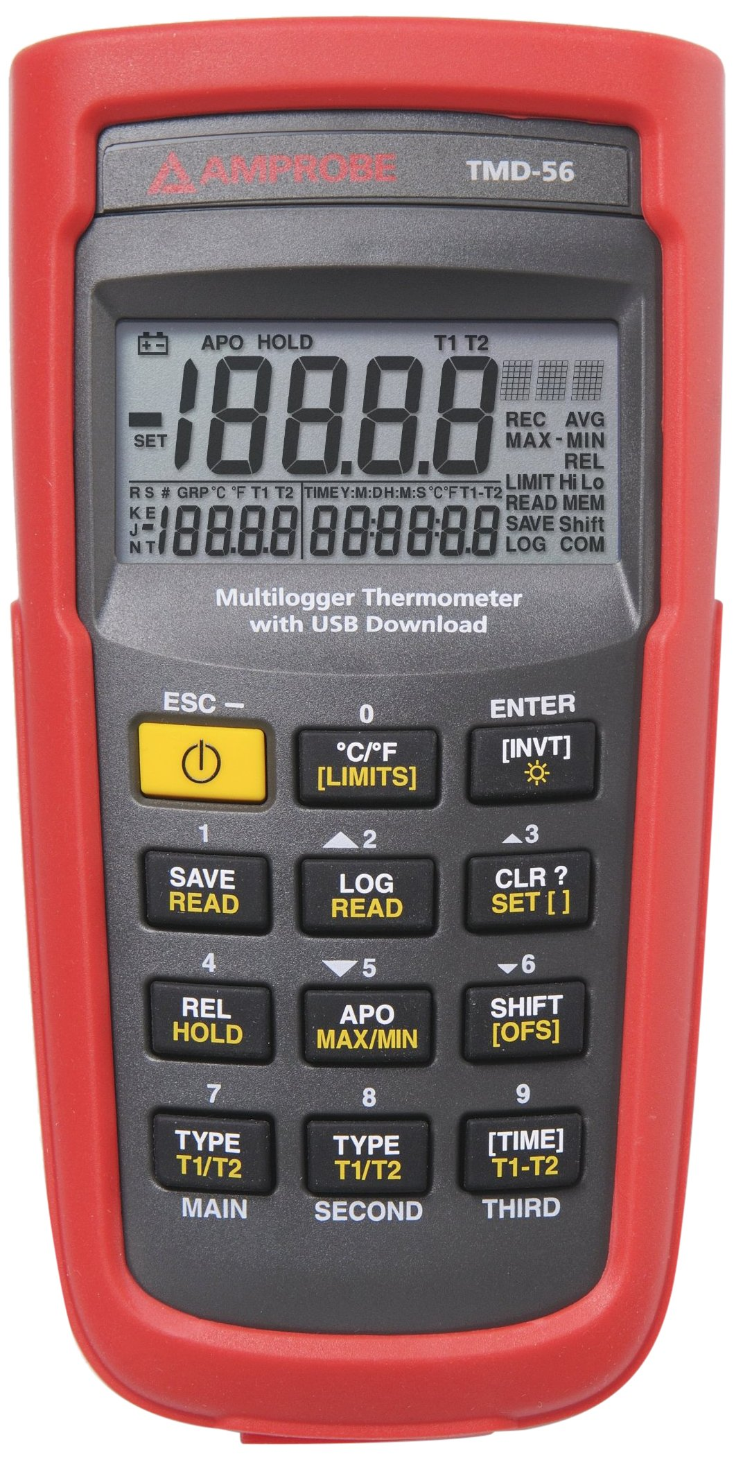 Amprobe TMD-56 Multi-Logging Digital Thermometer, 0.05% Basic Accuracy