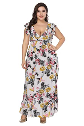 Plus Size Boho Maxi Dress