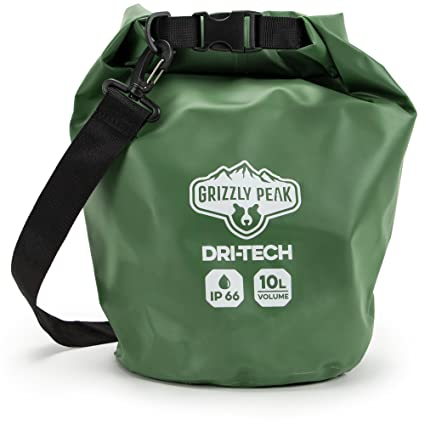 dbe6912672a7 Grizzly Peak Dri-Tech Waterproof Dry Bag IP 66 Lightweight Roll-Top Sack  with