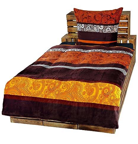 Dresscode 2-Teilige Bettwäsche Set Bett Bezug 135x200 cm x Kopfkissen 80x80 cm Teddy PLÜSCH Coral Fleece Cashmere Touch Super