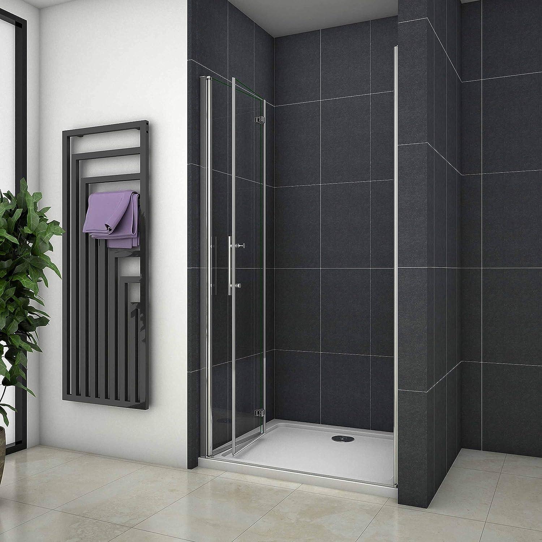 70x185cm Mamparas de ducha Pantalla baño plegable puerta de ducha Aica: Amazon.es: Bricolaje y herramientas