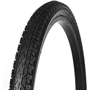 Fenix Brick Tread Beach Cruiser Tire 26in x 2.125in Black//White Sidewall