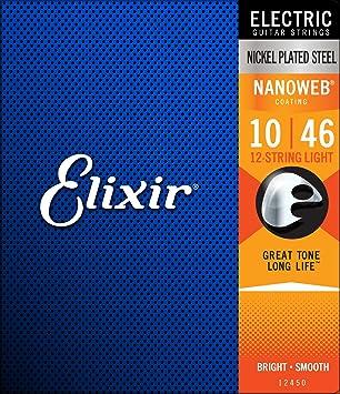 Elixir 12450 - Juego de cuerdas para guitarra eléctrica, 12 cuerdas: Amazon.es: Instrumentos musicales