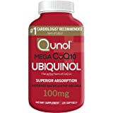 Qunol Mega Ubiquinol CoQ10 100mg, Superior Absorption, Patented Water and Fat Soluble Natural Supplement Form of Coenzyme Q10
