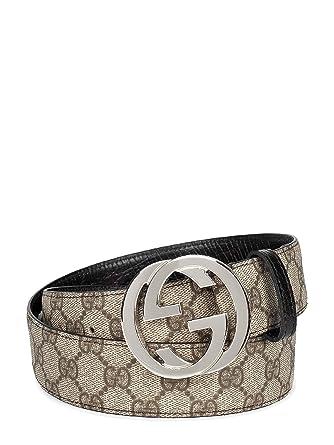 fb7975280 Amazon.com: Gucci Monogram Belt - 41.5(US) / 105(IT) / 105(EU): Clothing