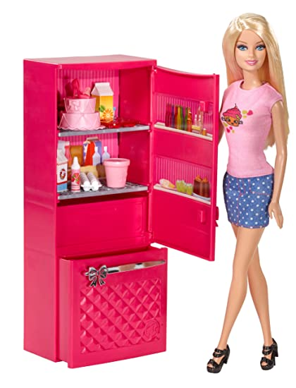 Surprising Amazon Com Barbie Doll And Fridge Set Toys Games Download Free Architecture Designs Itiscsunscenecom