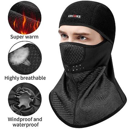 KINGBIKE Balaclava Ski Face Mask Windproof Waterproof Men Women Warm Hood  Winter Masks Thermal Micro- 4233fbcc0