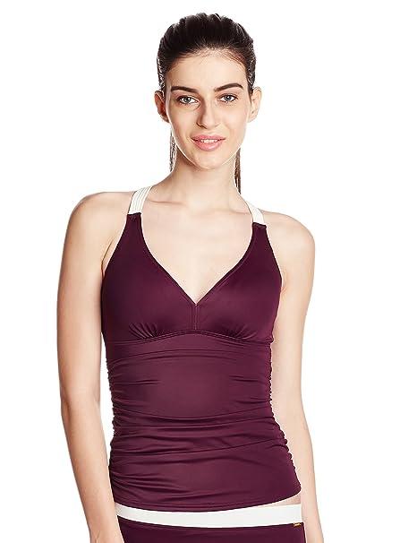9e6ed5eba2d9f Amante Women s Swimwear Tankini  Amazon.in  Clothing   Accessories