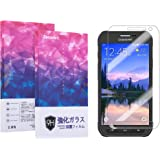 Zeroire®「30日間返金保障」Docomo Galaxy Active neo SC-01H強化ガラス液晶保護フィルム 0.3mm 9H硬度 気泡防止 2.5D 指紋防止(SC-01H)