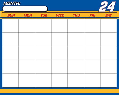 Amazoncom Nascar 24 Chase Elliott 16 X 20 Dry Erase Calendar