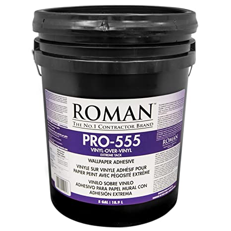 Roman 011905 Pro 555 5 Gal Over Vinyl Wallpaper Adhesive